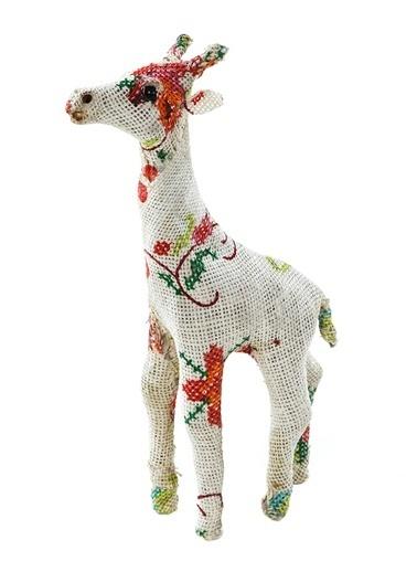 Vitale Keten Kaplama Zürafa Küçük Boy Renkli